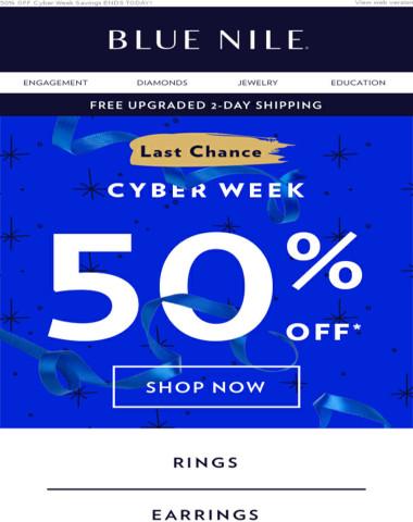 FINAL HOURS: 50% Off Fine Jewelry!
