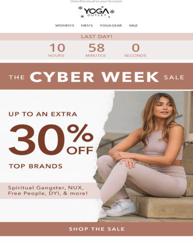 All Good Things Must Come to an End ? Including Cyber Week