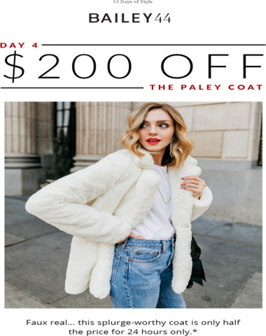 Day 4: An unreal deal on winter's best faux fur.