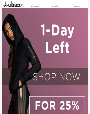 1-Day Left! 25% Off Holiday Sale*