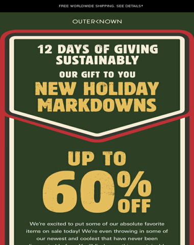 Day 6: The Holiday Sale is here! Get up to 60% Off