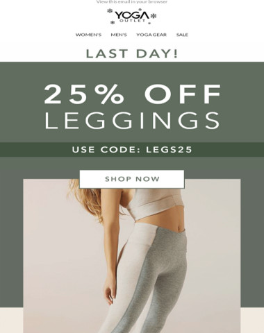 25% OFF LEGGINGS ?♀️ ENDS TODAY