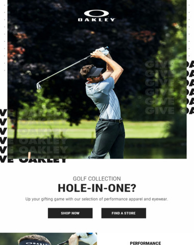 Hole-In-One? Give Oakley