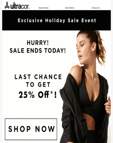 ENDS TODAY! 25% Off Sitewide Sale*