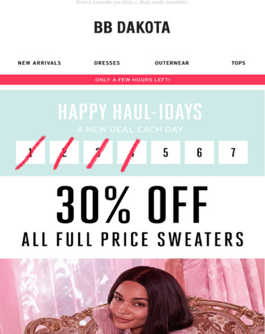 Every Sweater Is 30% Off