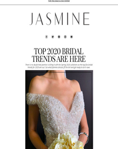Top Bridal Trends for 2020