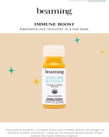 Hi, it's Immune Boost season knocking.