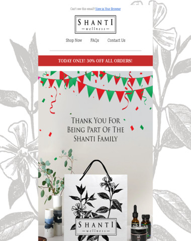We Appreciate You Being Part of the Shanti Family ?