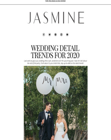 Top Trending Details for Your 2020 Wedding