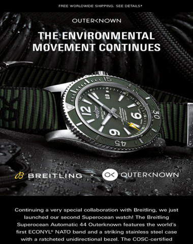 Breitling x Outerknown: The Environmental Movement Continues