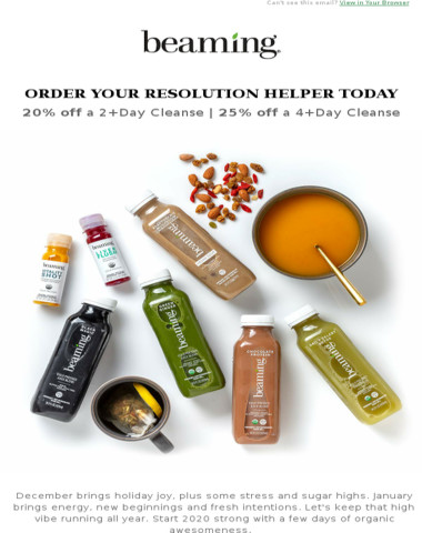 Cleanse sale starts now!