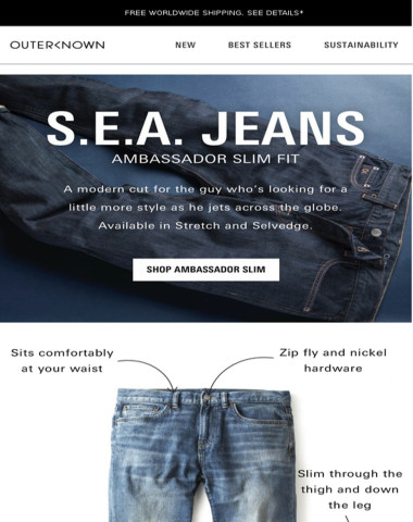 S.E.A. JEANS: Unmatched fit, quality & detail.