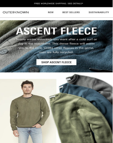 Incoming! Ascent Fleece is here