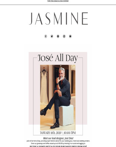 José All Day! Meet Jasmine Lead Designer on January 11th
