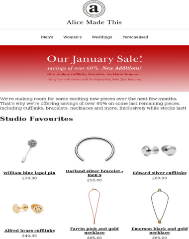 New additions to our January Sale!