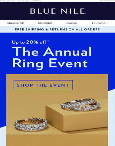 Our Annual Ring Event Starts Now: Up To 20% Off!