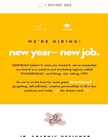 NEW YEAR– NEW JOB?