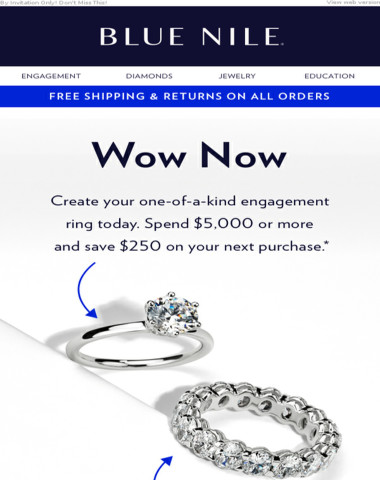 Engagement Ring Offer Just For You: $250 Off A Future Purchase