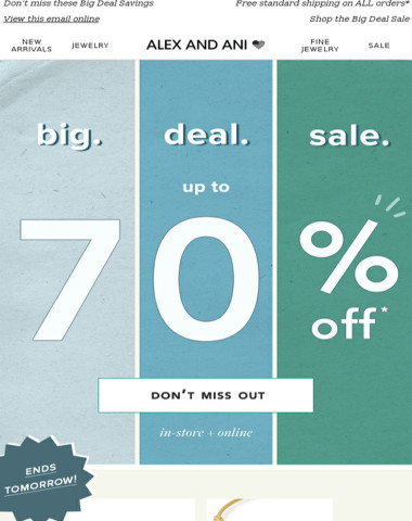 Ends Tomorrow: Up to 70% OFF Select Styles