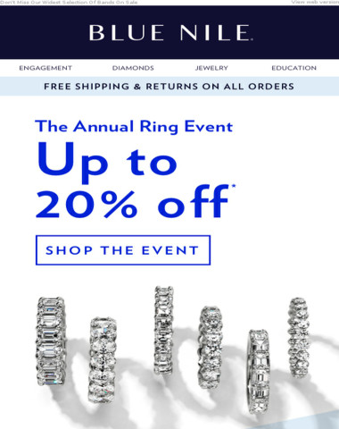 Annual Ring Event: Up To 20% Off Diamond Rings & More