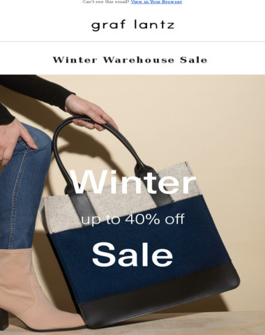 Winter Warehouse Sale Launches | Up to 40% Off