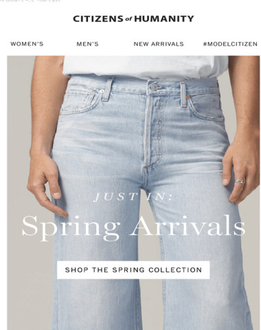 Just In: Spring Arrivals