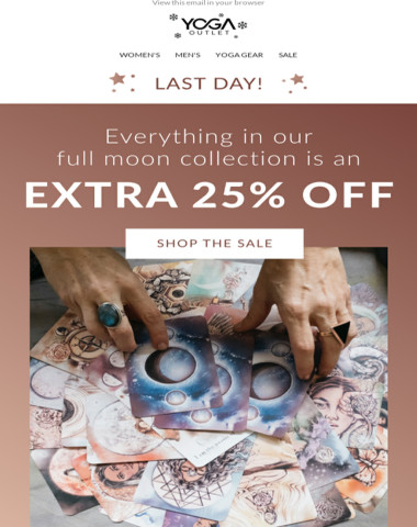 ? LAST DAY: 25% OFF our Full Moon Collection ?