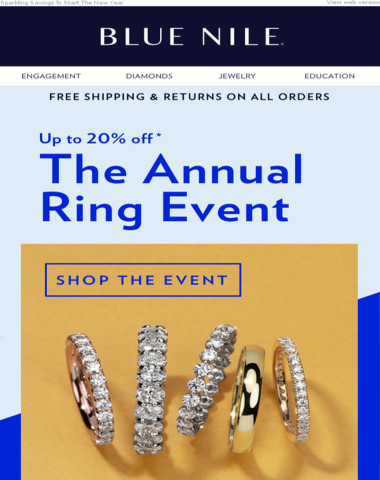 Up To 20% Off Annual Ring Event Is On Now!
