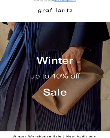 New Additions to Our Winter Sale | Up to 40% Off