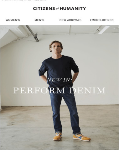 For Him: New Perform Denim