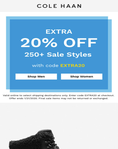 Extra 20% off styles you were eyeing