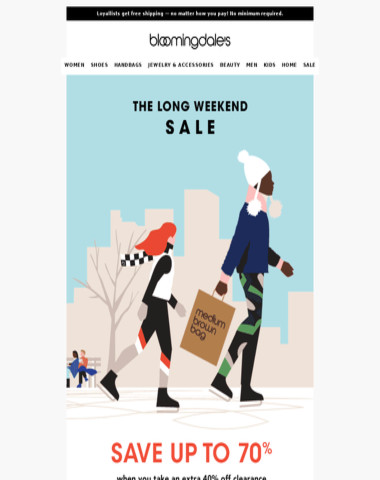 The Long Weekend Sale: Save up to 70%
