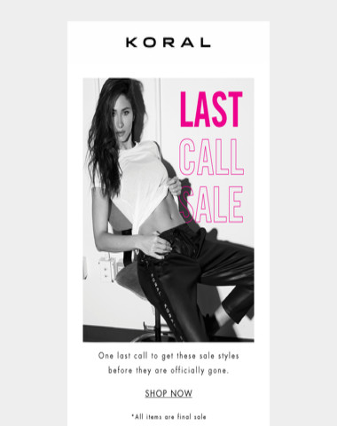 Regrets? None. Shop the Last Call Sale today.