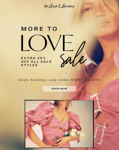 Shop the SALE! Extra 25% off ends soon...