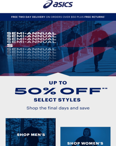 Hurry, up to 50% off marked down styles isn't over YET