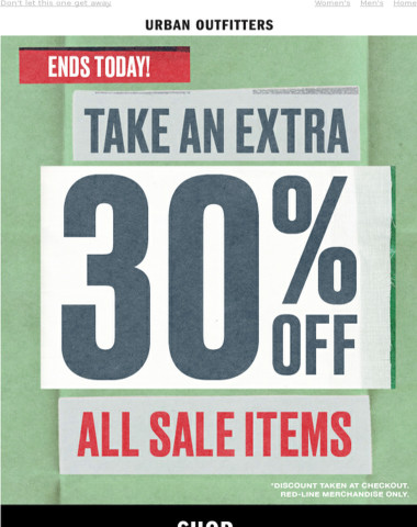 ALMOST OVER | 30% OFF all sale items