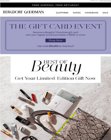 The Beauty Event Starts Now + Earn a BG Gift Card