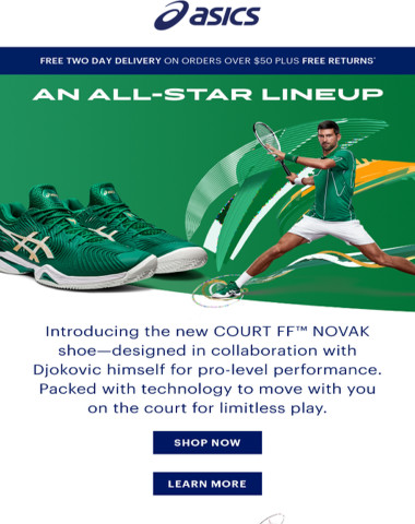 Introducing the new COURT FF™ NOVAK shoe