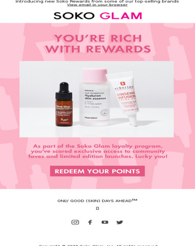 Bonus gifts for our best customers