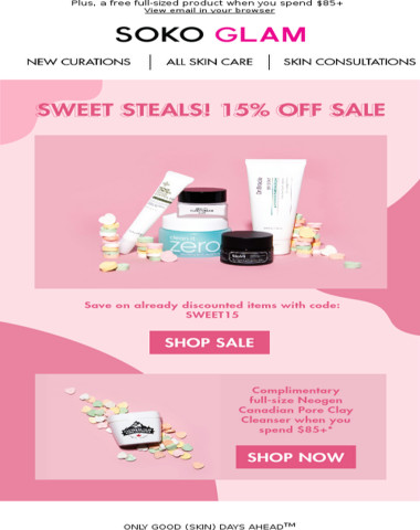 Sweet Steals // 15% Off Sale Starts Now!