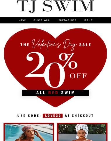 V-DAY SALE ❤️ 20% OFF ALL RED SWIM