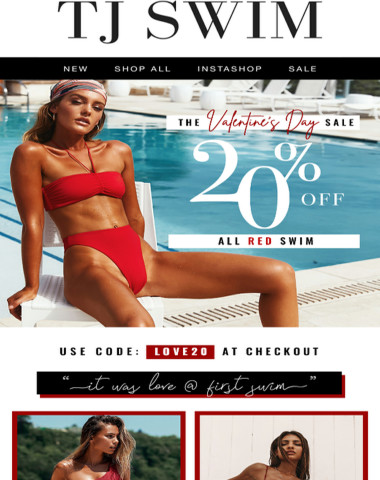 Don't miss 20% off all RED swim ?