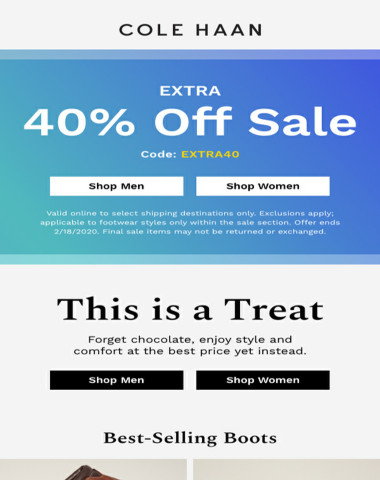 Extra 40% off sale is on now