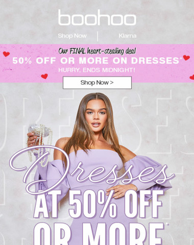 50% Off Dresses? We're Serious ?