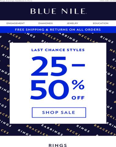 25-50% Off Fine Jewelry!