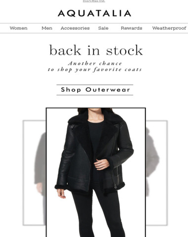 Select Coats Back in Stock | Additional 30% Off Sale