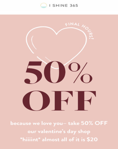 final hours for 50% OFF!??