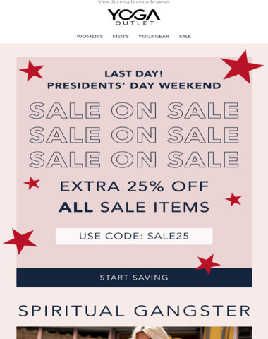 Last chance for an EXTRA 25% OFF ⌛