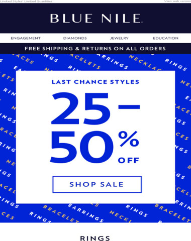 Valued Customer, You're Getting 25-50% Off!