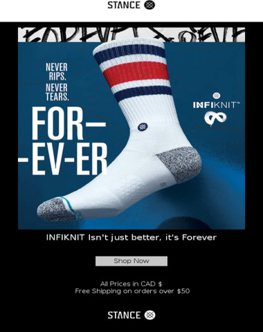 INTRODUCING STANCE INFIKNIT TECHNOLOGY